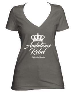 Ambitious Rebel (Women's V-Neck)